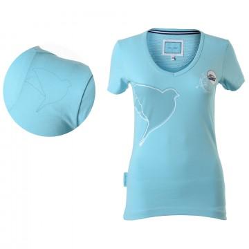 Damen T-Shirt Türkis