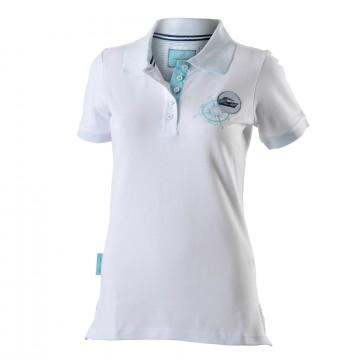 Damen Poloshirt Weiß