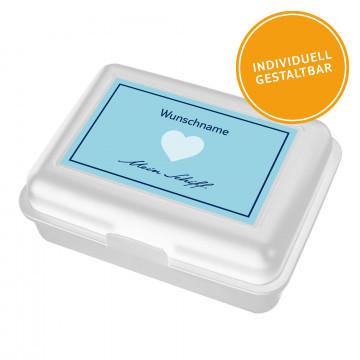 Individualisierbare Lunchbox Herz