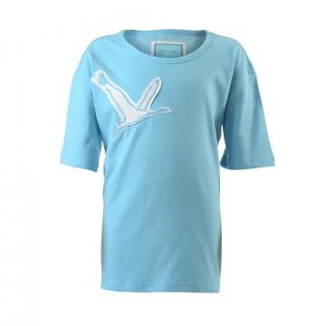Kinder T-Shirt Aqua-Blau